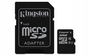Karta pamięci microSD KINGSTON 32GB CL10+ adapter
